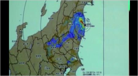 東日本の汚染:拡大図